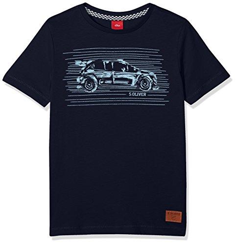 s.Oliver Jungen T-Shirt 63.807.32.5411, Blau (Dark Blue 5876), 128