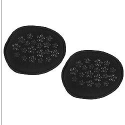 Orthèses pour hallux valgus 1 paire de chaussures à talon invisible pour femmes à l'avant-pied/demi-patins antidérapants de couleur noire