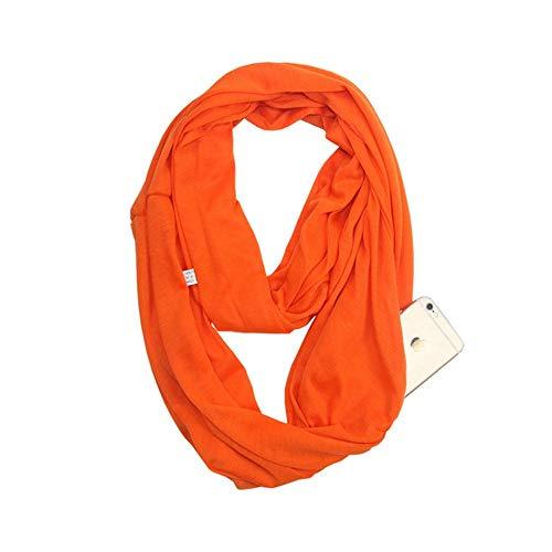 YYXXX Schal-Reißverschluss-Taschen-Lätzchen unbegrenztes Unisexmultifunktions-warmes Kragen, Farbe 4.180 * 50Cm