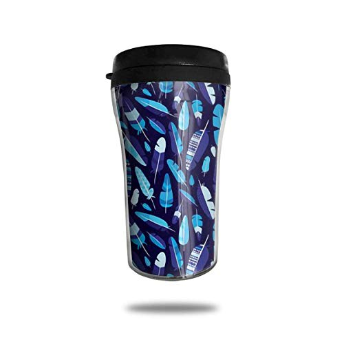 Classic Travel Mug Federn Isolierter Becher für Kaffee, Getränke, 8 Unzen, Anti-Spill -