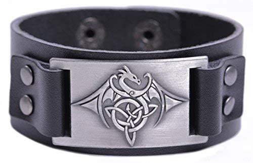 b8d9efe4c367 VASSAGO Vintage Amulet Norse Viking Celtic Knot Trinity Flying Dragon con  Alas Pulsera para Hombre Mujer