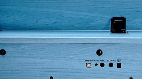 Artesia F-61BL Kinder Digitalpiano (E-Piano, Keyboard, Bank, Kopfhörer, 61 anschlagsdynamische Tasten, 8 Sounds, 1 Demo Song, 32-Fache Polyphonie, USB-Anschluss, inkl. Apps für Android und iOS) blau - 4