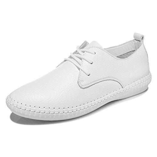 Und Slip Sneakers Flach Runde Einfache Beiläufige Gemütliche Zehen Frühling Sommer On Weiß Kurzschaft Schnüren Damen 5qPOwWv