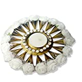Exquisite Hand Crafted Festive Decor Crystal Floating Diya (tealight Candle Holder) With Beautiful White Roses