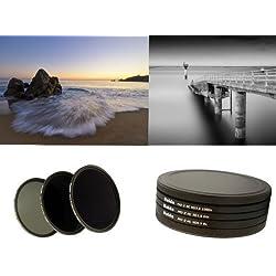 PRO II Digital MC Filtre gris neutre comprenant ND8, ND64, nd1000conteneur de filtres 52mm avec pile Cap Filtre et Casquette