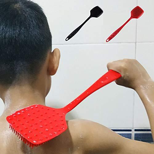 JMung'S Silikon Rückenbürste Massagebürste Dusche Körper Bürste Silikon Badebürste Kraftvolle Reinigung Geeignet für die Verbesserung der Blutzirkulation/Eliminating Müdigkeit