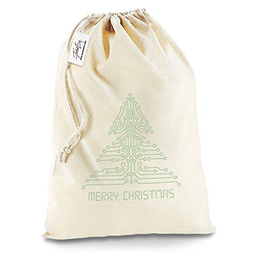 Twisted Envy circuito strass albero di Natale Babbo Natale calza di Natale sacchetto regalo, Cotone, X-Large - Approx 50cm x 70cm