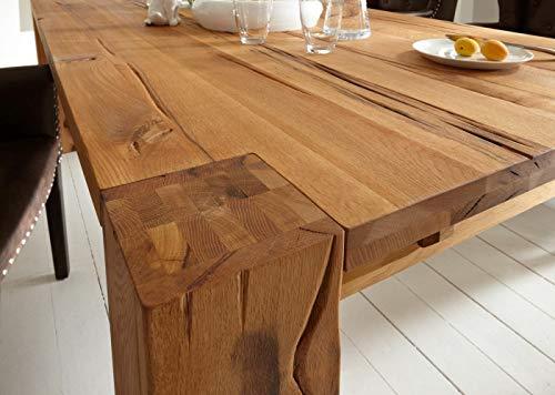 Sit-möbel fausto - tavolo in legno di rovere massiccio con cuscino per la crescita delle piante, 180 x 100 x 77 cm