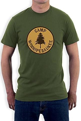 Camp Winnipesaukee Funny Camping Outdoors Holiday Men Beige XX-Large T-Shirt
