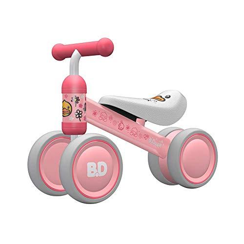 YUHT Kinder Laufrad Spielzeug,1 Jahr TÜV geprüft Baby Dreiräder Erst Geburtstag Geschenk Fahrrad Für Jungen Mädchen 10-24 Monate Rosa Ente