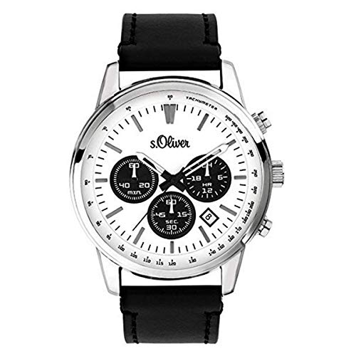 s.Oliver SO-3687-LC Montre chronographe pour Homme