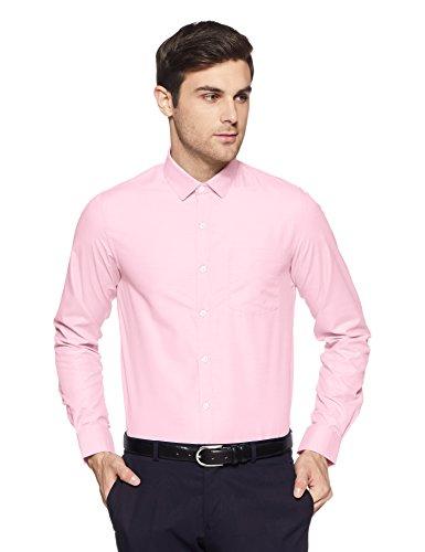 Excalibur EX Men's Solid Regular Fit Formal Shirt (276432630 Pink 42 FS)