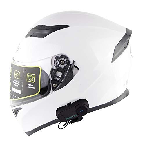NAN® Modularer Bluetooth-Motorradhelm, Zertifizierter Beschlagfreier Helm Mit Doppellinsenintegration, HD-Bluetooth-Intercom-Helm Nach ECE-Standard
