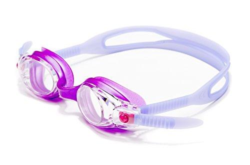 Luna-Schwimmbrille Freestyle Plus mit leicht anpassen Strap Purple mit klaren Linsen - Keine Leckage - Anti-FOG - UV-Schutz