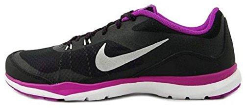 Nike - Flex Trainer 4, Scarpe Da Ginnastica da donna Black/Purple/Bright Grape/Metallic Silver