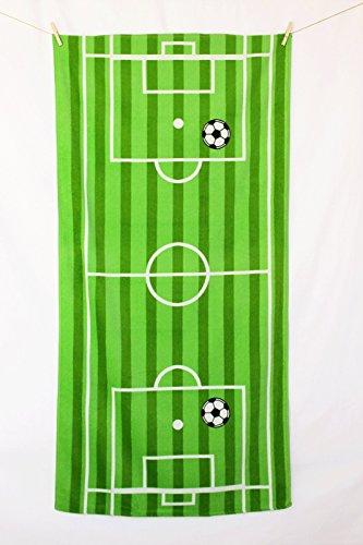 Strandtuch Strandlaken Fußball 75x150 Velours 100% Baumwolle