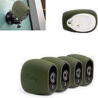 Coques en Silicone pour Arlo HD (4 pièces Vert) pour Arlo HD - Étui de Protection sans Fil pour Caméra - pour Netgear Arlo HD Accessoires de Sécurité Smart VMS3230 - Ajustement Parfait - By Sully