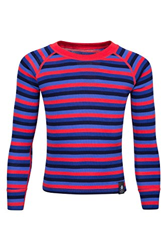 Mountain Warehouse Merino Kids Stripe Round Neck Top