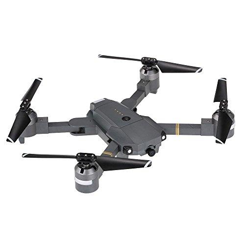Auntwhale mini drone rc pieghevole s168, quadricottero quadricottero rc 2.4 g 6 axis gyro con telecamera hd 720p hd wifi grandangolare -altitude hold, one key decollo/atterraggio, 3d flip, sensore d