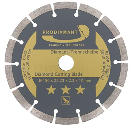 PRODIAMANT Diamant-Trennscheibe 180 x 22,2 mm - Beton, Stein, Ziegel, universal 180mm