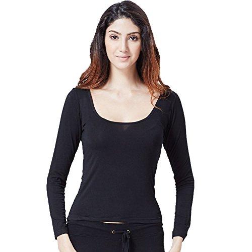 Greatrees - T-shirt - Manches Longues - Femme Taille Unique F-Noir
