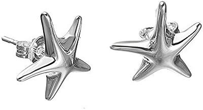 NYKKOLA diseño clásico hermosa estrella de mar chapado en plata de ley 925pendientes