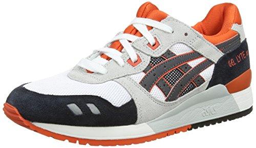 Asics Gel-Lyte III, Scarpe sportive, Unisex-adulto, Bianco (White/Black 190), 44