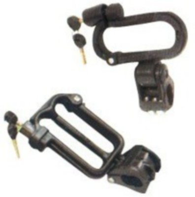 Delhi Traderss New Design Helmet Lock (Black Pack of 2)