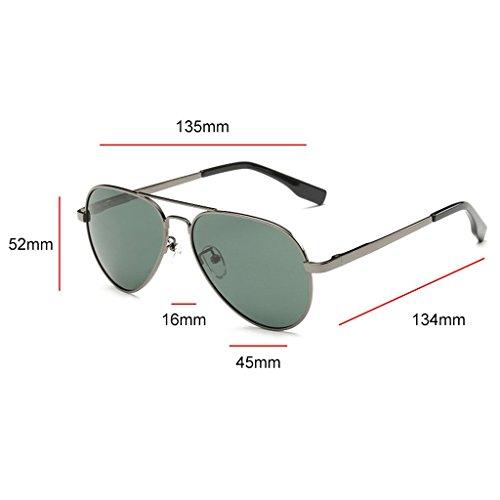 Highdas enfants Aviator Classique Polarized Sunglasses Kid Gar?ons Filles Vintage Lunettes de soleil Gun/Vert fonc¨¦