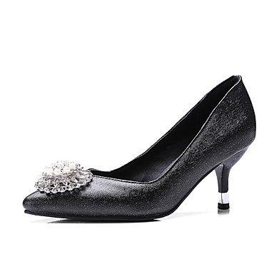 Wuyulunbi @ Chaussures Femmes Printemps Été Pompe De Base Talons Hauts Talons Hauts Strass Orteils Pour Office & Career Party & Soirée Rose Violet Noir