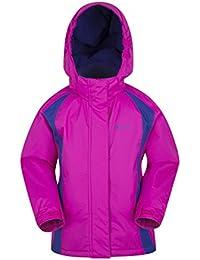 Mountain Warehouse Honey Kids Ski Jacket - Snowproof Childrens Jacket, Adjustable Cuffs, Fleece Lining Winter Coat, Integrated Snow Skirt - Ideal To Keep Children Warm Pink 13 years