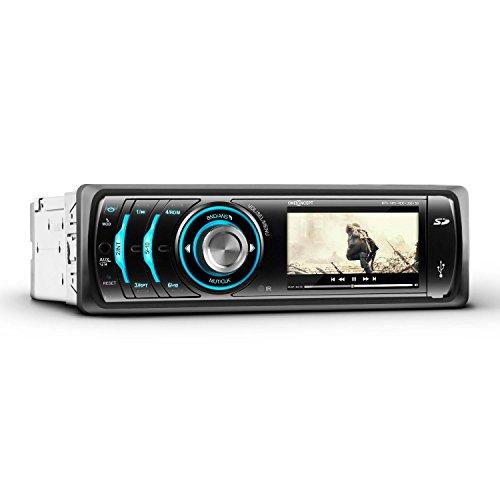 """oneConcept MDD-150-BT autorradio (Bluetooth MP3 SD USB, Mando Distancia, Entrada AUX, Manos Libres, micrófono, Monitor 7,5 cm (3\""""), sintonizador Am/FM, iluminación Colores)"""