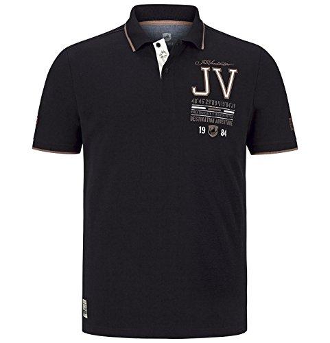 Jan Vanderstorm Herren Poloshirt Vinnan Schwarz Größe 72/74 (XXXXXL)