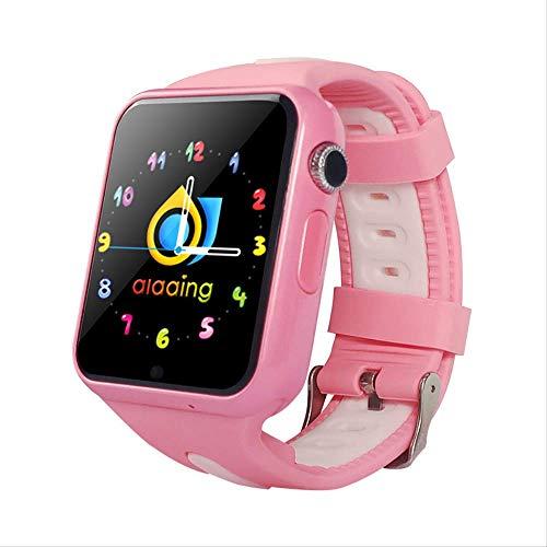 GYFKK Intelligente Uhr Smartwatch Stand-Alone-Karte Anruf GPS Positionierung 1,54 Zoll Touchscreen Wasserdicht Unterstützung Multi-chinesische Wörter Multi-Country rosa