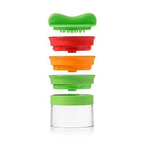 OXO Good Grips Hand-Spiralschneider mit 3 Klingen, Kunststoff, mehrfarbig