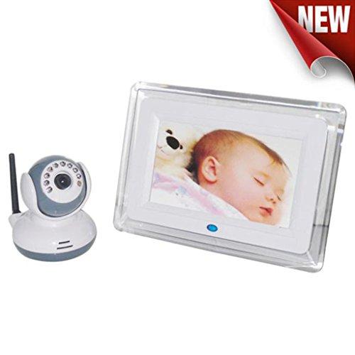 Baby Monitor Cámara IP de Vigilancia, Damark(TM) Cámara Video Vision nocturna con Micrófono y altavoz, 2,4 g inalámbrico digital monitor de bebé 7 pulgadas LCD receptor + cámara de visión nocturna