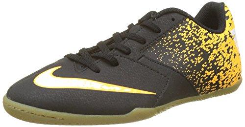 Nike Unisex-Kinder Jr Bombax IC Fußballschuhe, Schwarz (Black/White-Laser Orange), 35.5 EU (Nike Stiefel Winter)