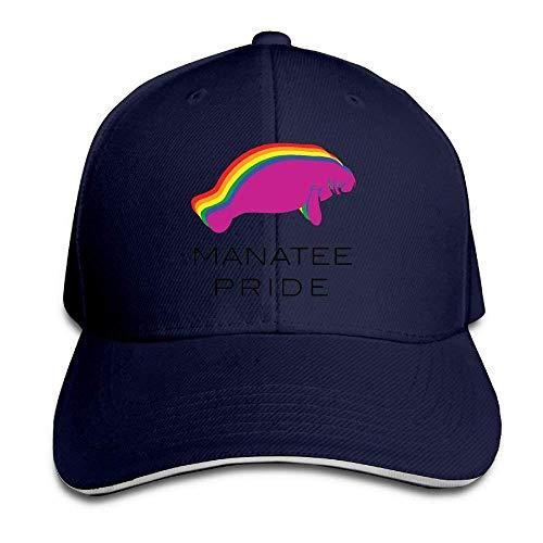 Kotdeqay Hip Hop Caps Printing Multicolor Adjustable Baseball Hats Manatee Pride Classic Adjustable OL4361