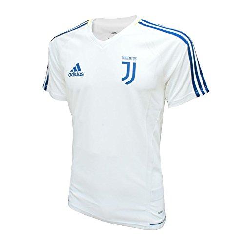 adidas Herren Turin Juventus Trainingstrikot, Bianco/Azunoc/Dorfue, L (Juventus Turin Training)