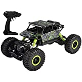 Popsugar Rock Crawler 1: 18 2.4GHz Remote Control Car 4WD Off Road RC Monster Truck Green