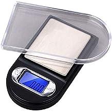 LAUER Básculas 100 g * 0.01 g Mini balanza de bolsillo electrónica digital balanza de peso