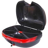 Baul Moto Universal 44L con Llaves y Soporte Caja de Moto Topbox Topcase Casco
