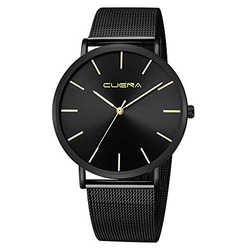 Celucke Armbanduhr Herren Klassisch Minimalistische Uhr, Männer Uhren Quarzuhr Wasserdicht Herrenuhren mit Edelstahl Armband