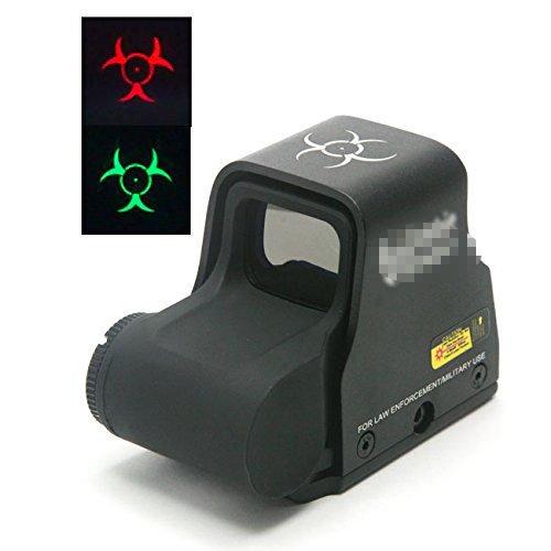 Worldshopping4U Airsoft taktische Zombie 556 Red & Green Dot Sight Scope (Back-Schalter) fit 20mm (schwarz) Cqb Airsoft Guns