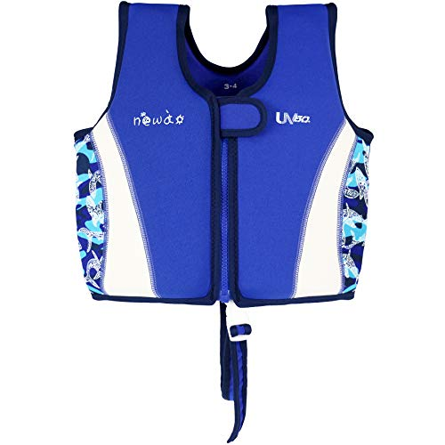 WYTbaby Kinder Schwimmweste Neopren Weste Schwimmjacke Jungen Mädchen Bademode Schwimmen Jacke, 1-3 Jahre -