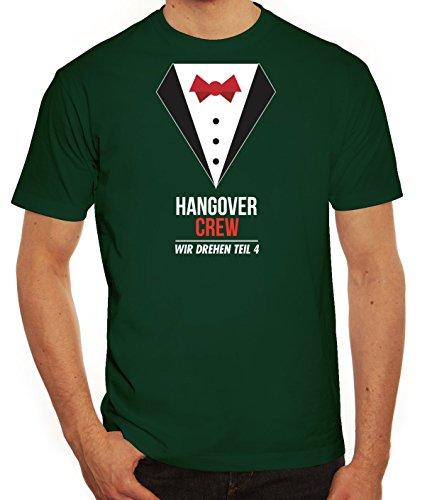 Junggesellenabschieds JGA Hochzeit Herren T-Shirt Suit Hangover Crew Dunkelgrün