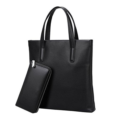 Echtes Geschäfts-Handtaschen-Männer Handtaschen-Männer Schulter-Beutel-Kurier-Beutel-Männer Lederner Beiläufiger Aktenkoffer Black