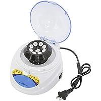 Kacsoo Mini Centrifuge Machine 4000 rpm Centrífuga de laboratorio clínico de escritorio con tapa Incluye rotor de 8 lugares para micro tubos de 0.2 ml, 0.5 ml, 1.5 ml, 2.0 ml para biología Química médica