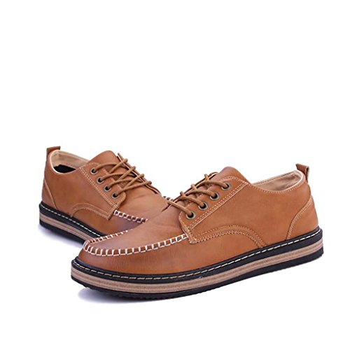 ZXCV Scarpe allaperto Mens Smart Leather Department Of Shoolaces Shoes Giallo