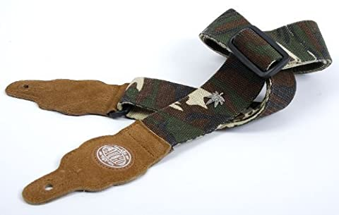 Camouflage 'Hemp Series' Hemp Guitar Strap for Electric/Acoustic/Bass Guitar (5 String Acoustic Electric Bass)